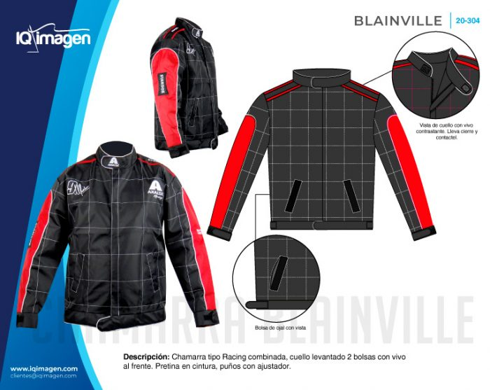 Ficha Chamarra Blainville Detalles Frente