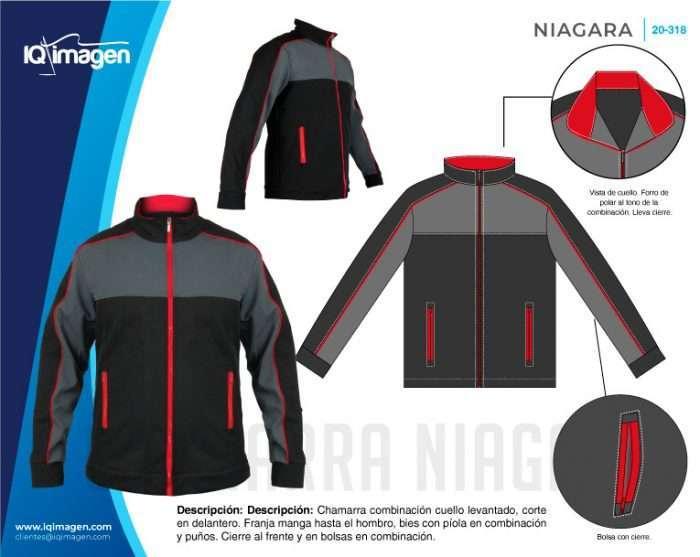 Ficha Chamarra Niagara Detalles Frente