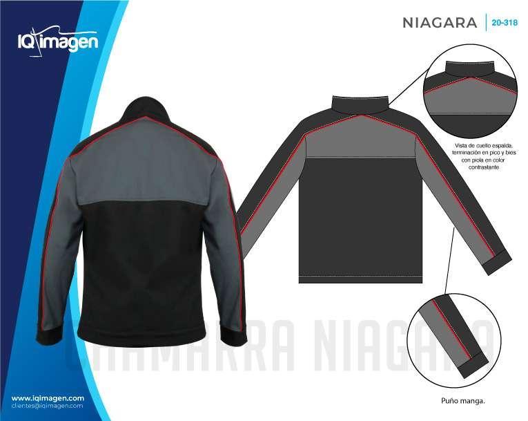 Ficha Chamarra Niagara Detalles Espalda