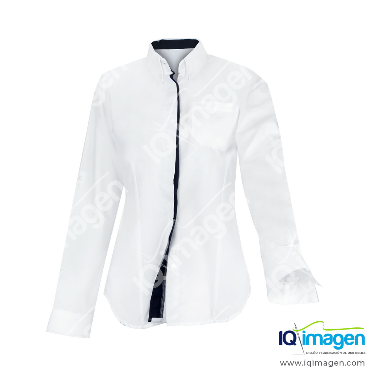 Blusa preston frente manga larga